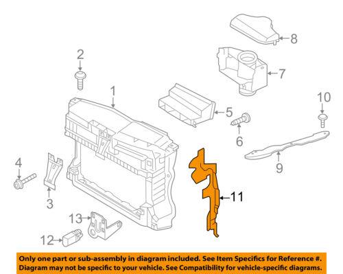 VW VOLKSWAGEN OEM GTI Radiator Support-Air Baffle Duct Deflector Left 5K0121283E
