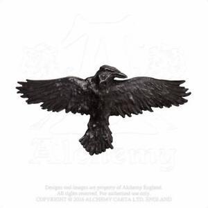 Haarspange-Gothic-Rabe-Raven-Batcave-Gotik-Corvus-Corax-Haarschmuck-ALCHEMY-HH10
