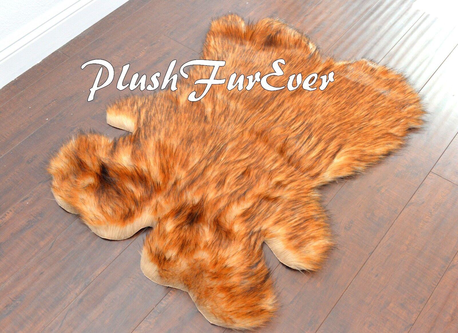 PlushFurEver 58  x 72   Grizzly Bearskins Bearskins Bearskins Animal Skins Faux Fur Area Rugs Lodge 68bff0