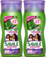 2 Savile Aloe Pulp & Keratin Treatment Shampoo Travel Size Pulpa Sabila Keratina