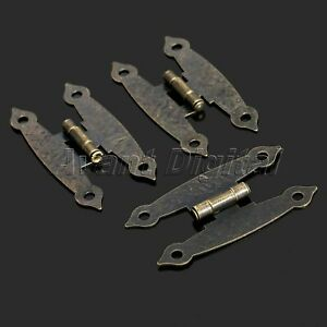 8Pcs-Antique-Brass-Long-Hinges-Cabinets-Drawer-Jewelry-Wine-Box-Hardware-Retro