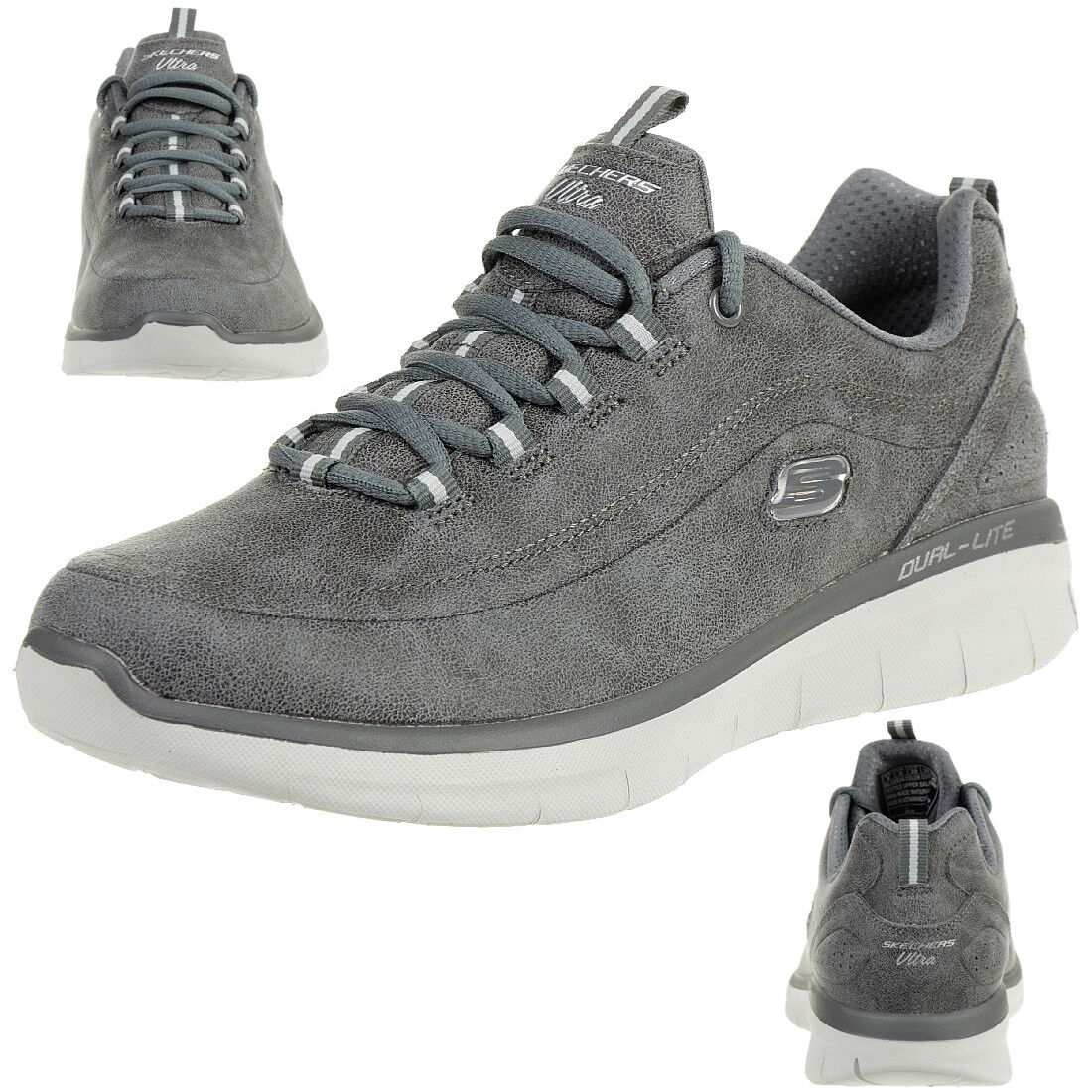 Skechers Synergie 2.0 Comfy Up Chaussures Fitness Dame Mousse à Mémoire Char