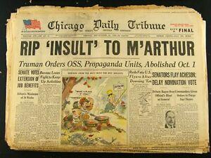Sep-21-1945-World-War-II-Newspaper-Headline-RIP-Insult-to-MacArthur-Chicago