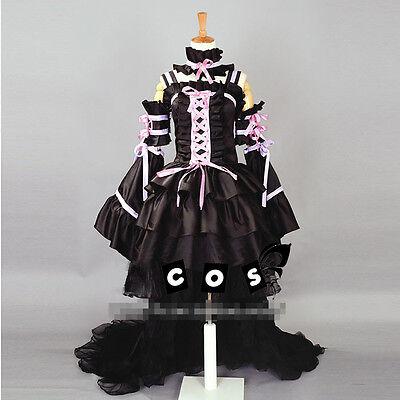 Chobits Chii Cosplay Kostüm costume Abend-Kleid Lolita Gothic Schwarz black v.2