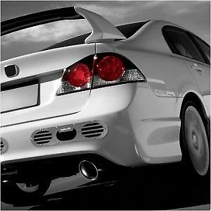 VMS Racing 2-Piece Rear Bumper Diffuser Honda Acura Civic Integra CRX Gunmetal