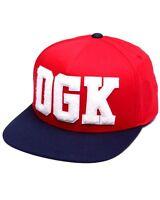 Dgk Dropout Adjustable Snapback Skateboard Cap Hat Red