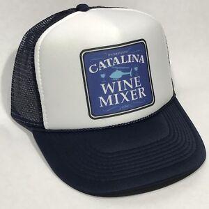 Catalina-Wine-Mixer-Vintage-Trucker-Hat-Retro-Snapback-Foam-Cap-Step-Brothers
