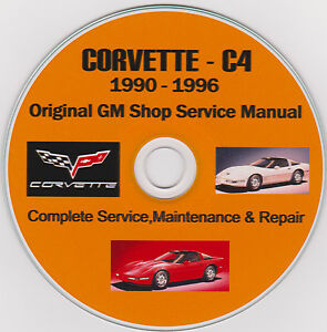 corvette c 4 1990 1996 original gm shop service repair rh ebay com 1990 corvette factory service manual 1990 corvette owners manual free