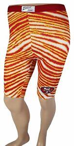 VTG-80s-SAN-FRANCISCO-49ERS-Zubaz-BIKE-SHORTS-Medium-Athletic-NFL-Zebra-Spandex