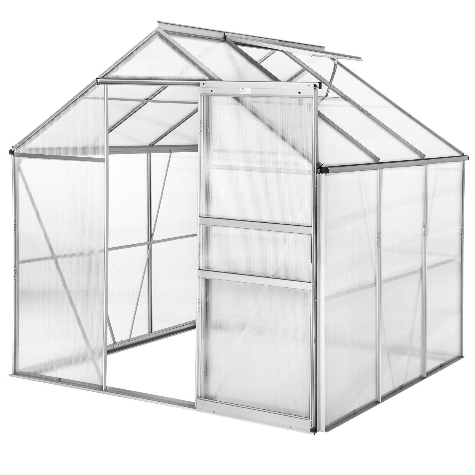 Invernadero de jardín con ventana poliCochebonato casero plantas cultivos 5,85m³