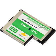 Laptop Hidden USB 3.0 A Female+eSATA F  to Express Card ExpressCard 54mm Adapter