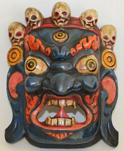 Details about Wooden Mask, Bhairav/Mahakali (Protector),Home Decor,Hand  Craved,Nepal,WM-7, New