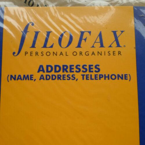 FILOFAX  ADDRESSES PERSONAL SIZE INSERTS LOOOOK