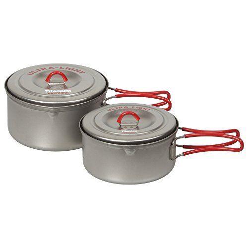 EVERNEW ECA259R Titanium Ultralight Cooker Pot Set 900ml 600ml w//tracking# JAPAN