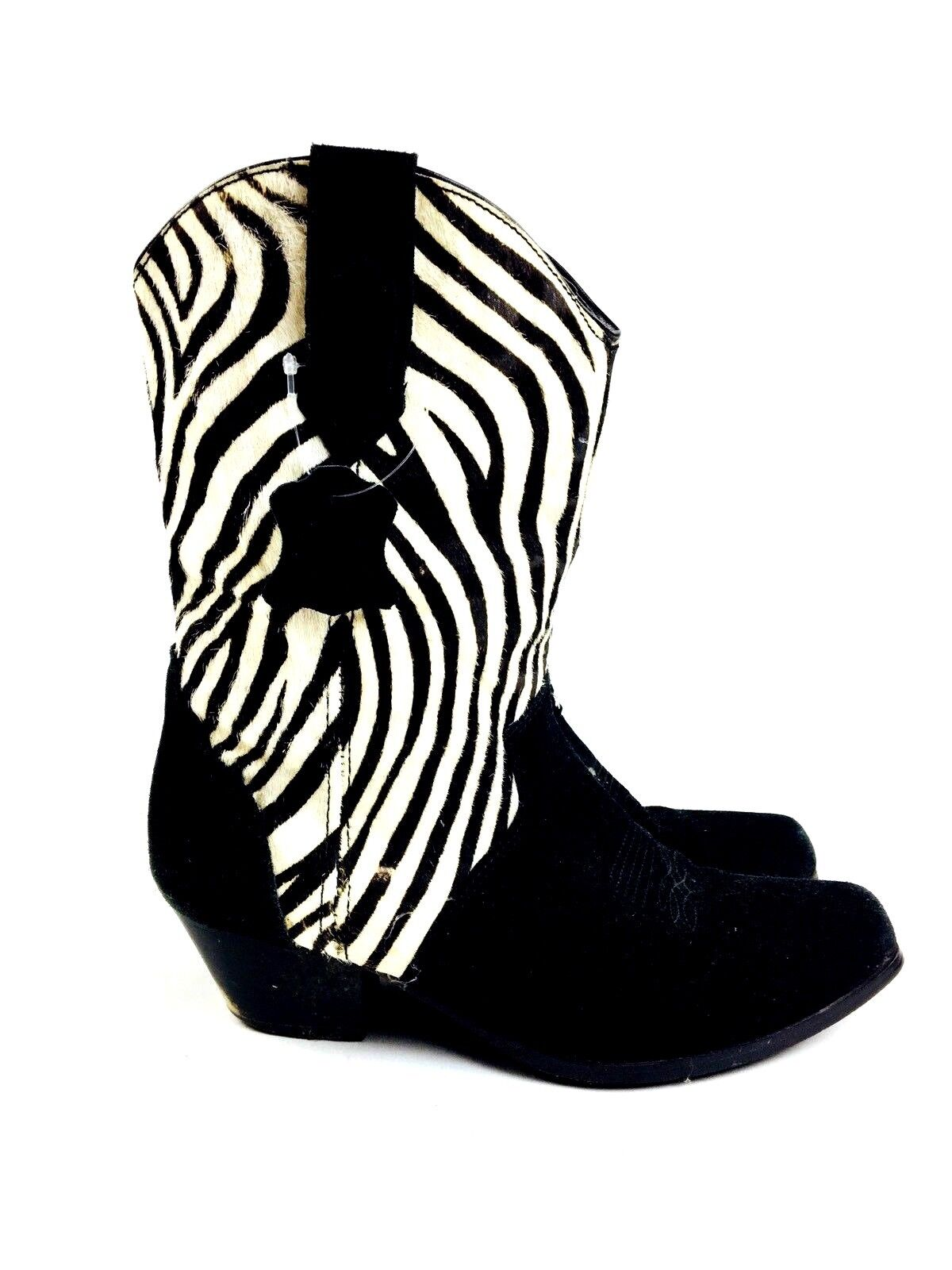 Zebra Cowboy Boots Women's Shoes Women's Boots He… - image 5