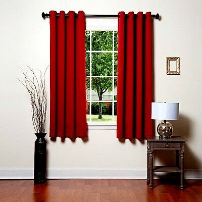 1 PANEL SOLID GROMMET WINDOW CURTAIN FOAM LINED BLACKOUT THERMAL MANY COLORS 63""