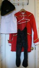 Costume;Halloween;Pirate/Colonial Hat,Ruffle Shirt,Velvet Pant,Red Coat;CHILD XL