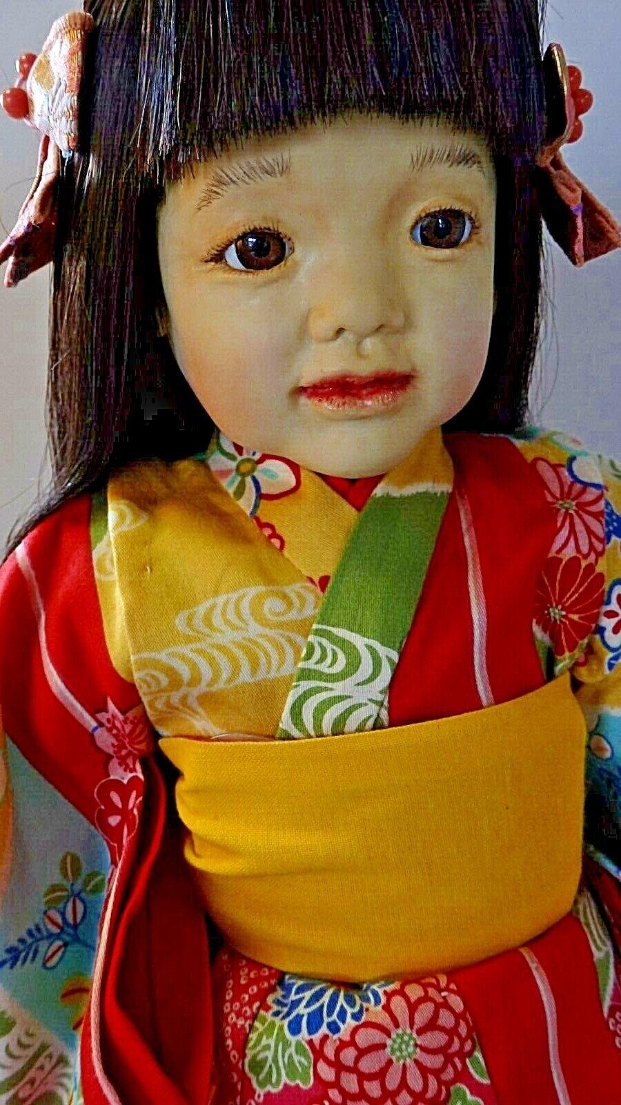 Junko-chan, self-sculpturot, handmade, OOAK Japanese girl art doll