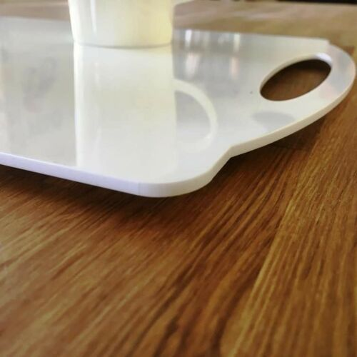 Rectangulaire Plat Serving Tray-Blanc