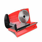 150w Electric Meat Slicer Ham Deli Cheese Bread Stainless Steel Blade Red
