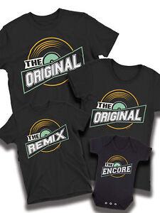 Original Remix Encore Music Matching T Shirt Dad Mum Son