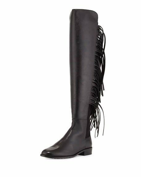 popolare Authentic NEW Stuart Weitzman Weitzman Weitzman Mane 5.5 Fringe Over the Knee Leather avvio 5050  con il 60% di sconto