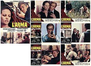 L-039-ARMA-FOTOBUSTE-6-SOGG-CLAUDIA-CARDINALE-SQUITIERI-1978-THE-GUN-USED-LOBBY-CARD