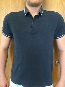 Fred-Perry-Mens-Size-M-Navy-Polo-Shirt-T-Shirt-Top