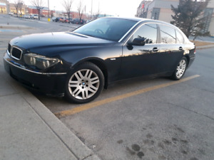 02 bmw 745Li right hand drive 99000kl rare and very nice car