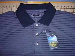 Pebble Beach Polo >> Details About Mens Large Gray Black Pebble Beach Polo Shirt Nwt