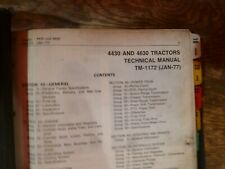 John Deere 4430 4630 Tractor Shop Service Repair Technical Manual Tm 1172