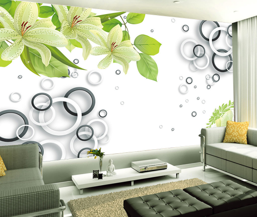 3D Leaf Flower Ring 883 Wallpaper Mural Paper Wall Print Wallpaper Murals UK