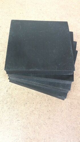 "Neoprene Rubber Sheet 1//8/"" Thk x 4-1//4/"" Square Strip 60 Duro 4 Pcs"