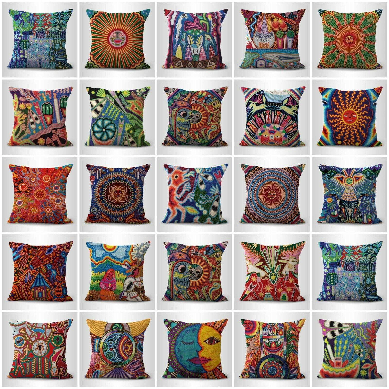 US Vendeur-Set de 20 bon marché VRAC LOT Indigenous origine Mexique Art housses de coussin