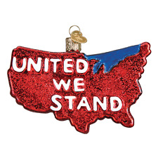 """""""United We Stand"""" (36214) Patriotic Old World Christmas Glass Ornament w/Owc Box"""