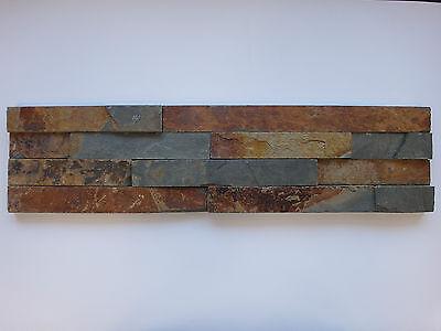 DemüTigen Musterstück Ca.15x30cm Der Naturstein Wandverblender Bunt Riemchen 15x60cm Heimwerker