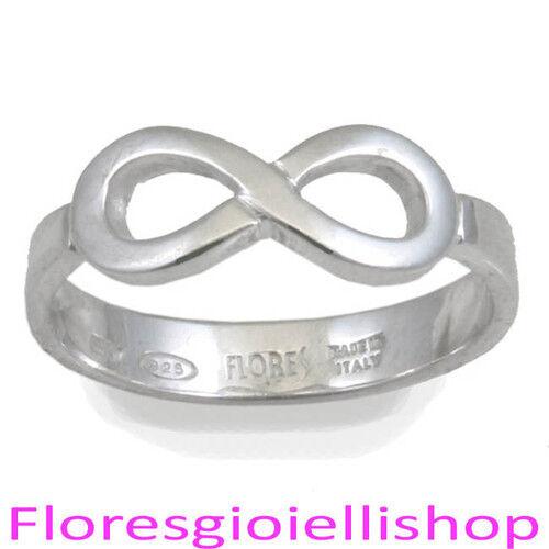 Flores gioielli Infinity ring Anello infinito in argento 925 con simbolo