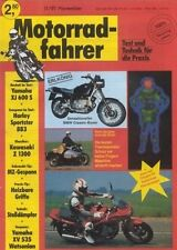 MF9111 + Test YAMAHA XJ 600 S + KAWASAKI Z 1300 + Motorradfahrer 11/1991