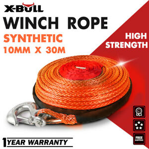 """X-BULL 2//5/""""x100ft Synthetic Winch Rope Orange Recovery Cable Line 4WD  23000LBS"""