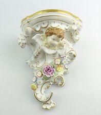 #e5219 PMP Porzellan Manufaktur Plaue Schierholz Wand Konsole mit Putto