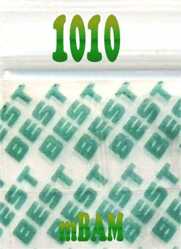 "100 PACK BLUE BEST 1010 Apple Ziplock Baggies 1.0x1.0/"" Mini POLYBAGS"