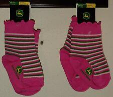 Green Size 12-24 Months Pink 4 Pairs John Deere Girls Toddler Socks