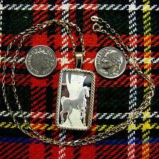 9ct gold New bullion stallion horse  pendant  & chain with 10g fine silver ingot
