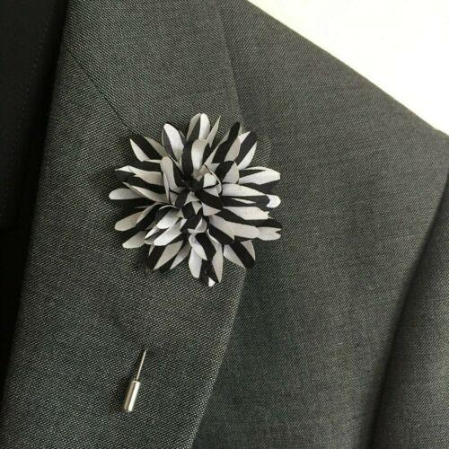 WEDDING FLOWER CORSAGE LAPEL PIN BROOCH SUITS BOUTONNIERE SUIT STICK PIN UNISEX