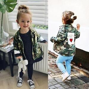 2648cae08 Baby Infant Girls Boy Camouflage Letter Denim Coat Cloak Jacket ...