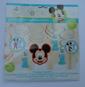 Baby MICKEY MOUSE 1st birthday party LOOT BAGS goodies treats 8pc Disney