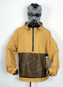 Huf-Worldwide-Windbreaker-Jacket-Jacke-Anorak-Wire-Frame-Honey-Mustard-in-L