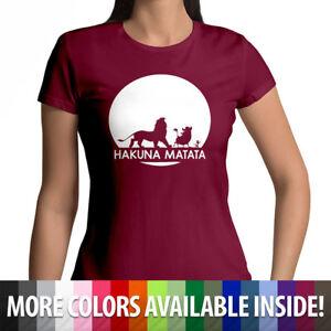 54e991f39 Disney Lion King Hakuna Matata Womens Soft 100% Cotton Crew Neck Tee ...