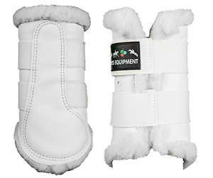 HKM Faux Fur Lined Imitation Leather Smart Predction-Brushing Boots-White-FreePP