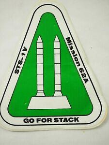 Nasa-STS-1V-Missione-62A-Go-per-Pila-Adesivo-in-Vinile-1986